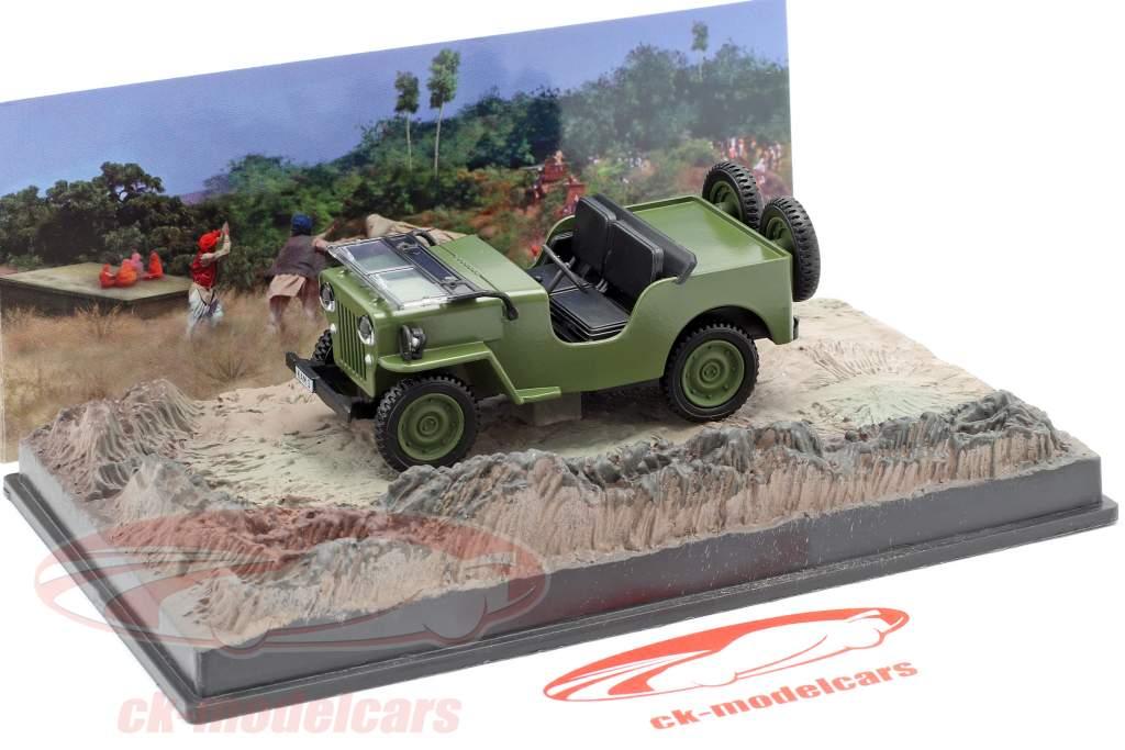 Willys Jeep M606 James Bond filme Octopussy marrom carro 1:43 Ixo