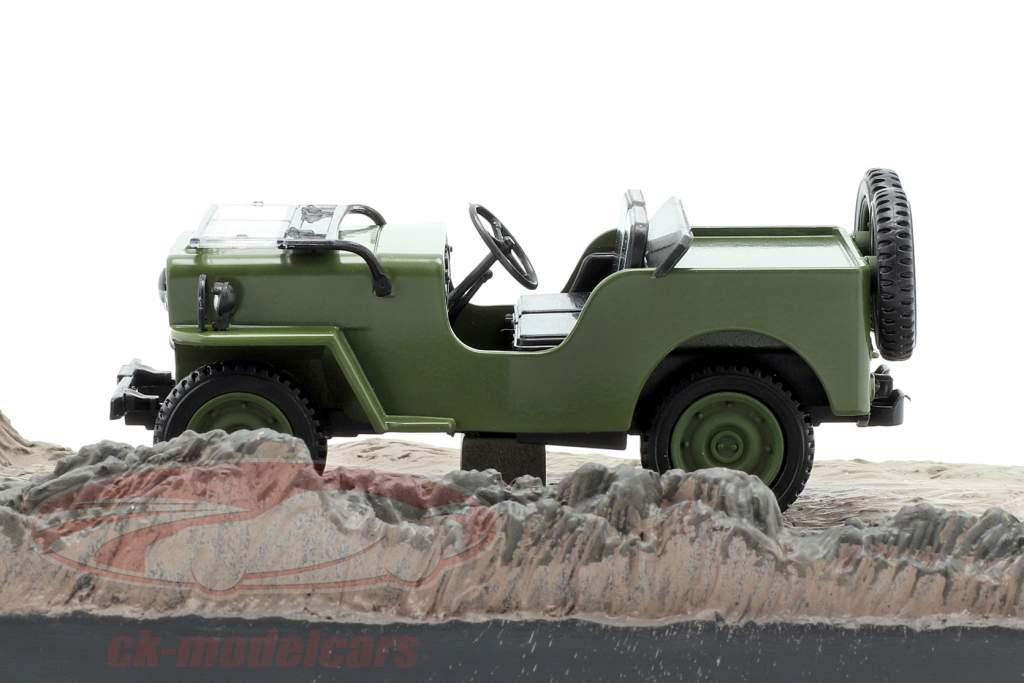 Willys Jeep M606 película de James Bond Octopussy marrón coche 1:43 Ixo