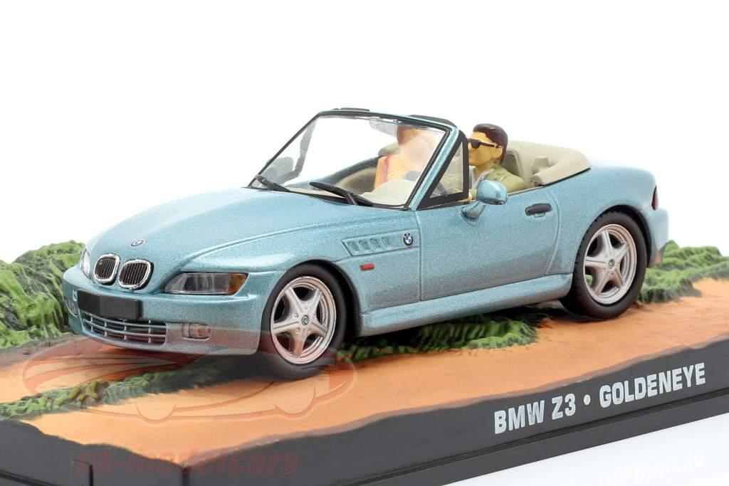 BMW Z3 James Bond film Goldeneye Car lichtblauw metallic 1:43 Ixo