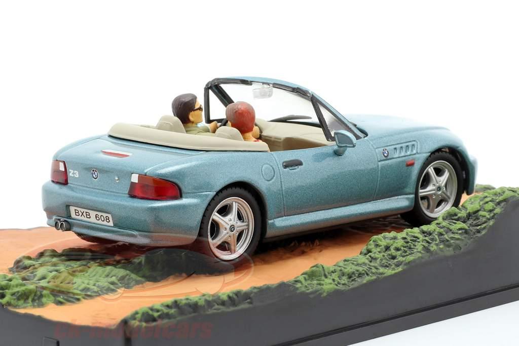 BMW Z3 James Bond film Goldeneye auto blu chiaro metallizzato 1:43 Ixo