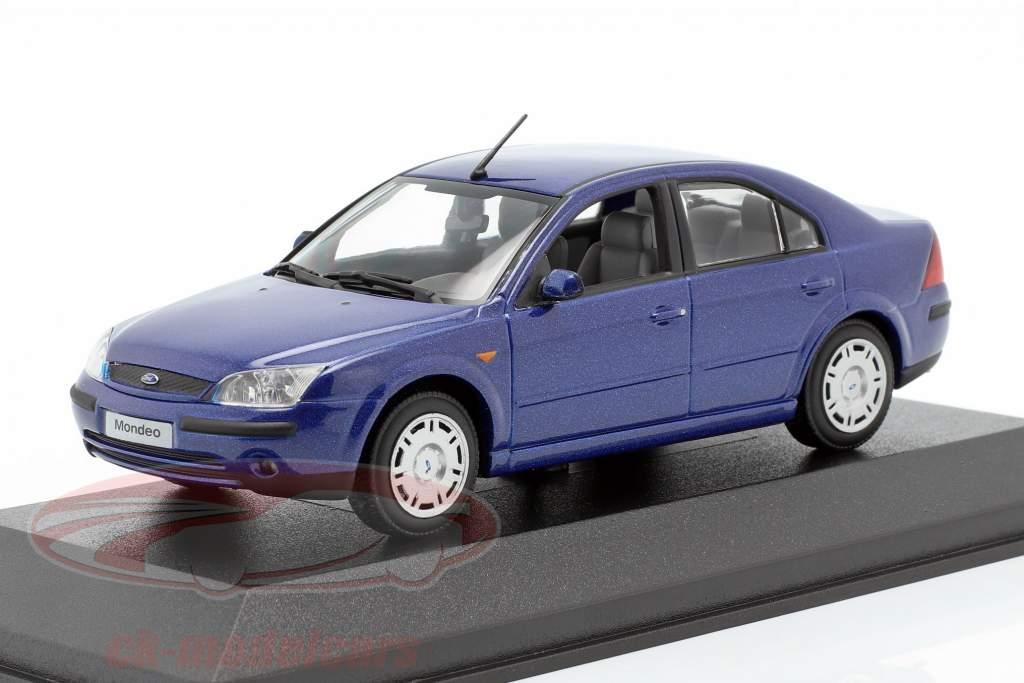 Ford Mondeo Limousine año 2002 azul 1:43 Minichamps