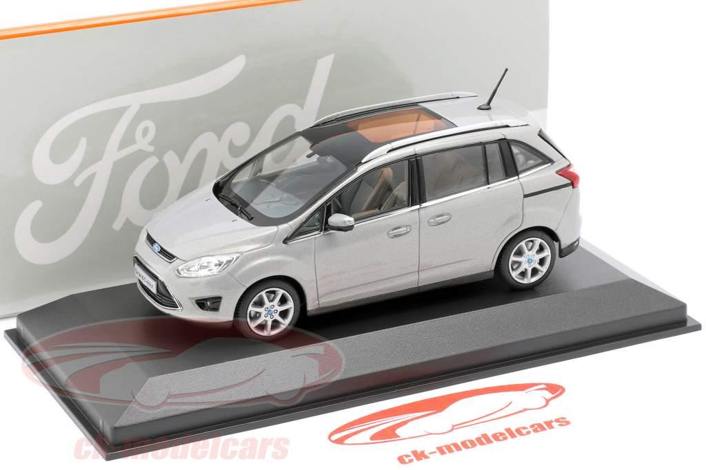Ford Grand C-Max Year 2010 gray metallic 1:43 Minichamps