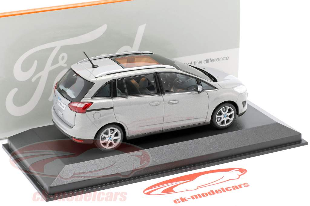 Ford Grand C-Max Año 2010 gris metálico 1:43 Minichamps