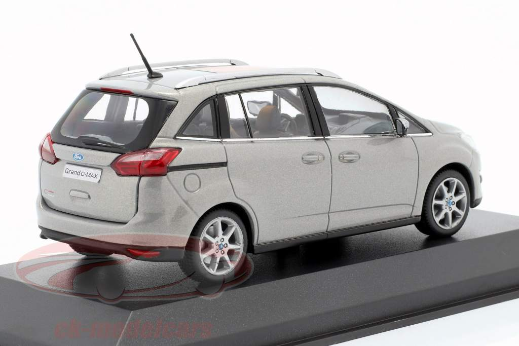 Ford Grand C-Max Anno 2010 grigio metallico 1:43 Minichamps