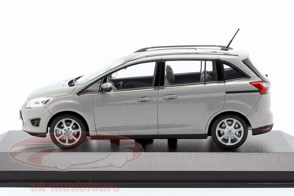 Ford Grand C-Max Année 2010 gris métallique 1:43 Minichamps