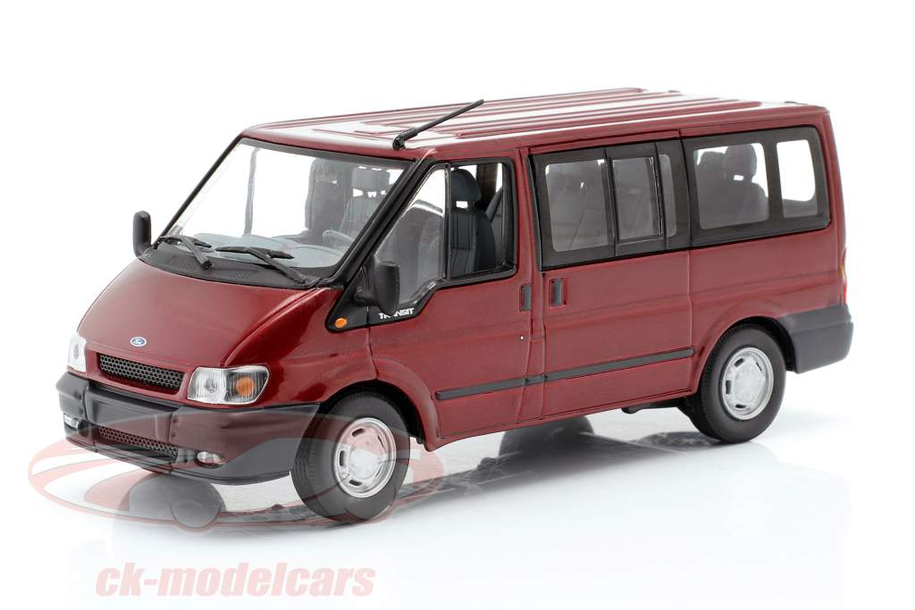 Ford Transit Tourneo Kombi Bj. 2001 vin rouge 1:43 Minichamps