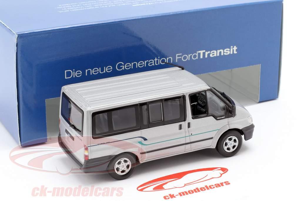 Ford Transit bus argent 1:43 Minichamps