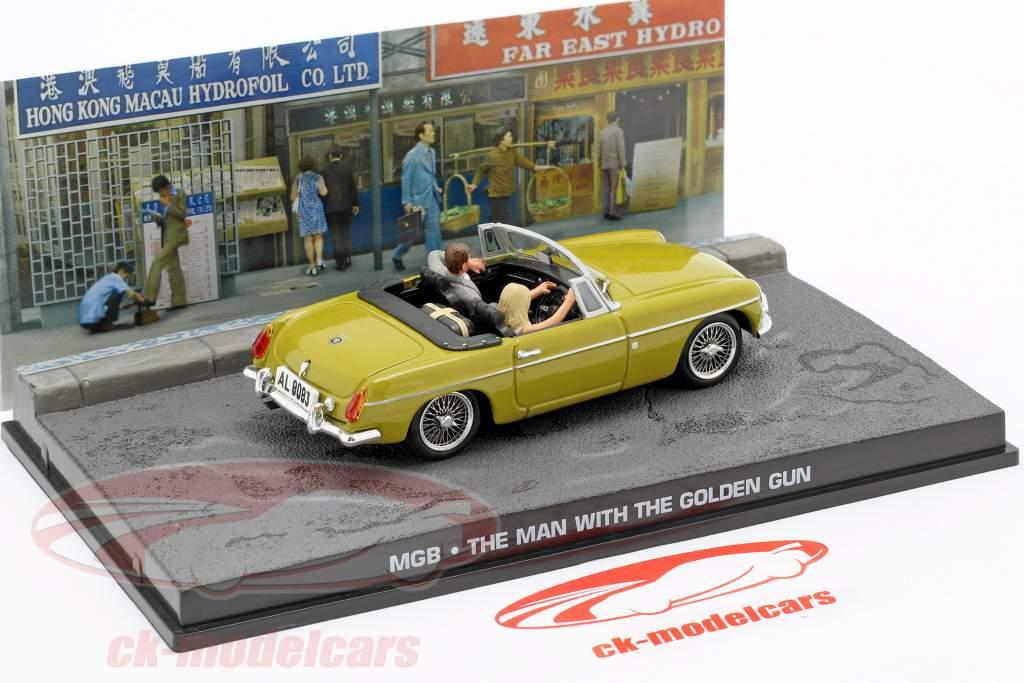 MGB James Bond Movie Car Com personagens The Man with the golden gun (1974) 1:43 Ixo