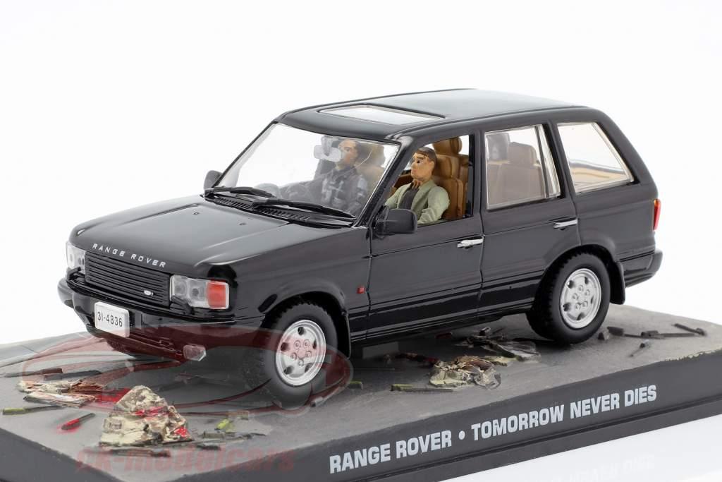 Range Rover Car película de James Bond El mañana nunca muere 1:43 Ixo negro