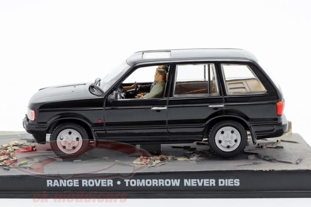 レンジローバー車ジェームズボンド映画の明日は午前1時43モデルIxo黒ネバーダイ