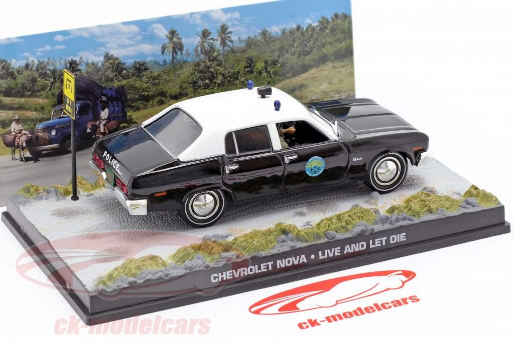 Chevrolet Nova Police Car James film di James Bond Live and Let Die 1:43 Ixo