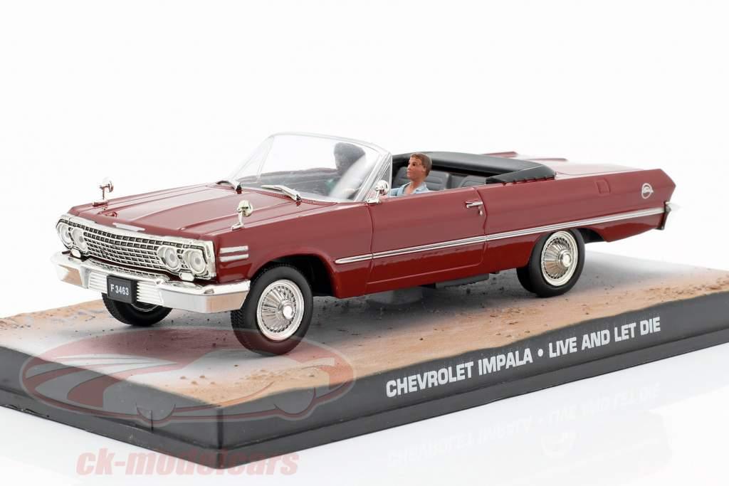 Chevrolet Impala James Bond, Vivre et laisser mourir sombre 1:43 Ixo