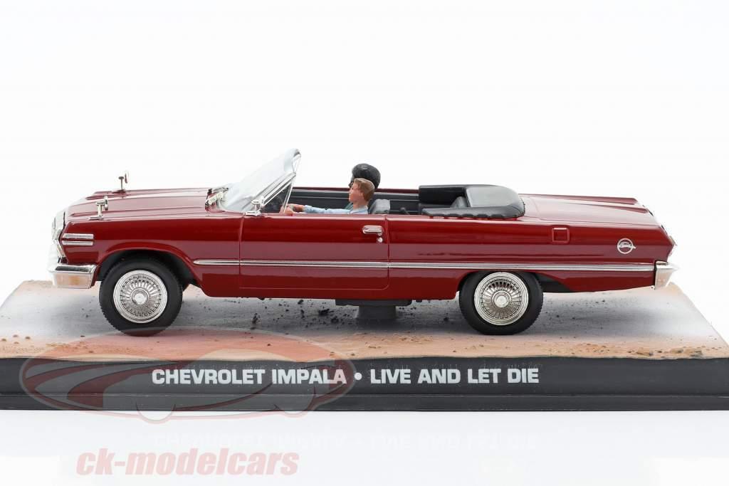 Chevrolet Impala James Bond Movie Leben und Sterben lassen dunkelrot 1:43 Ixo