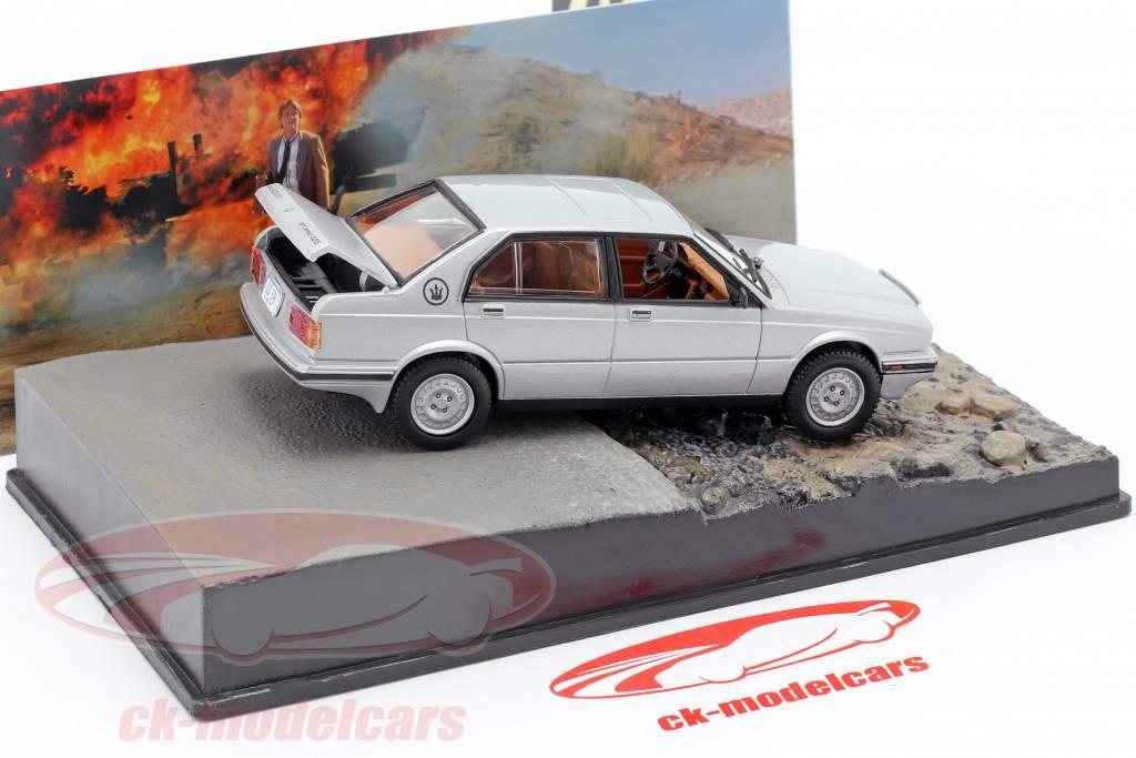 Maserati Biturbo 425 James Bond Movie coches de licencia para matar plata 1:43 Ixo