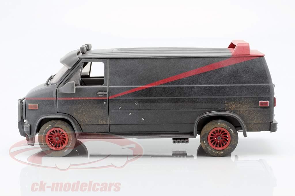 B.A.'s GMC Vandura Dirty Version 1983 série de TV o A-Team (1983-87) 1:18 Greenlight
