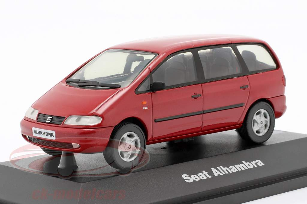 Seat Alhambra I Baujahr 1996-2010 rot 1:43 Seat