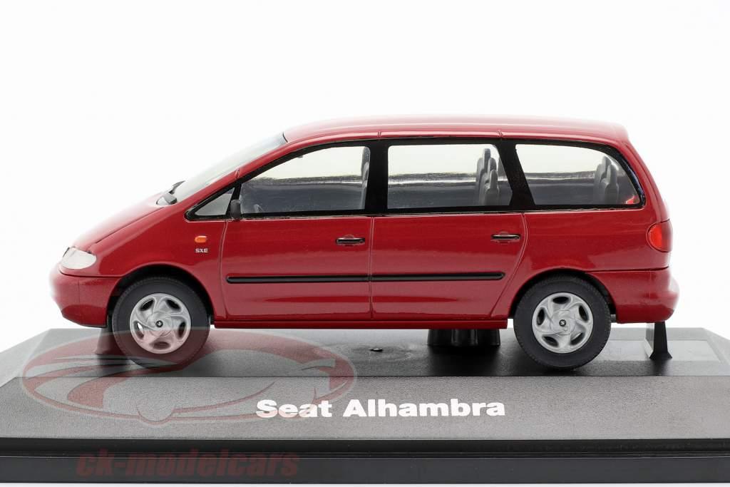 Seat Alhambra I Bouwjaar 1996-2010 rood 1:43 Seat