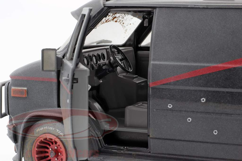 B.A.'s GMC Vandura Dirty Version 1983 tv-serie de A-Team (1983-87) 1:18 Greenlight