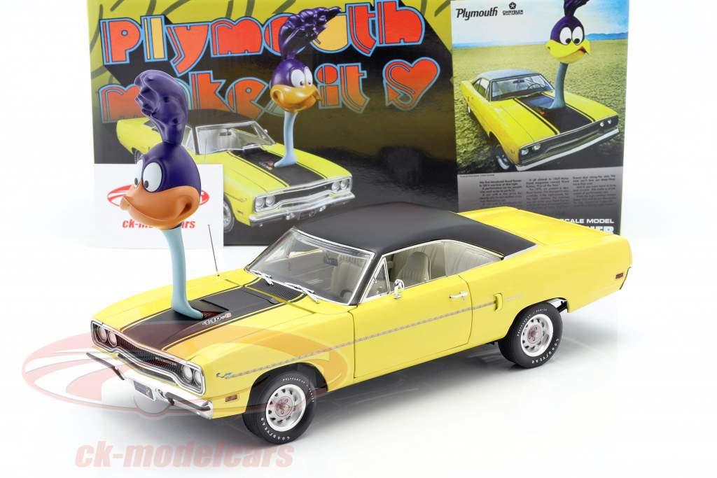 Plymouth Road Runner 1970 med Road Runner figur 1:18 GMP