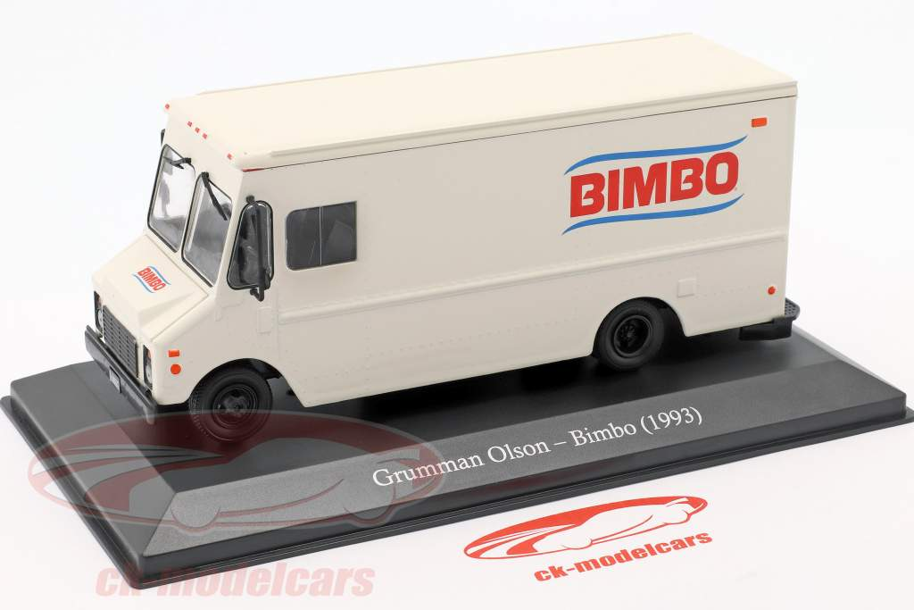 Grumman Olson LLV van Bimbo year 1993 white 1:43 Altaya