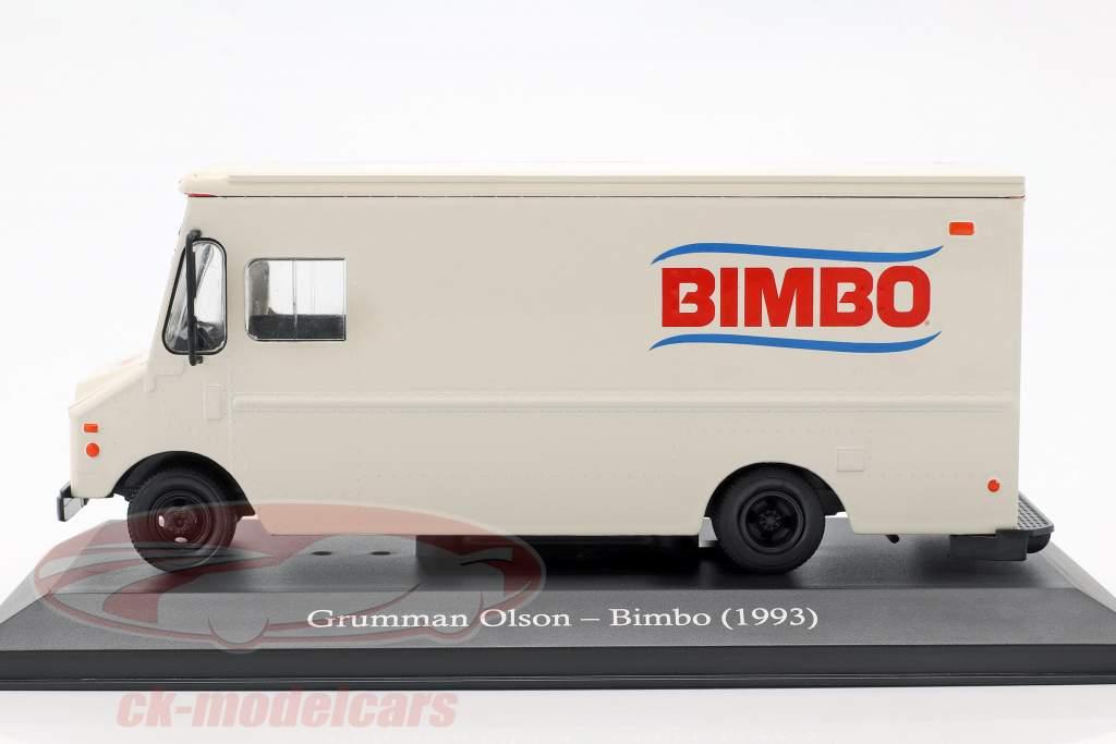 Grumman Olson LLV busje Bimbo Bouwjaar 1993 wit 1:43 Altaya
