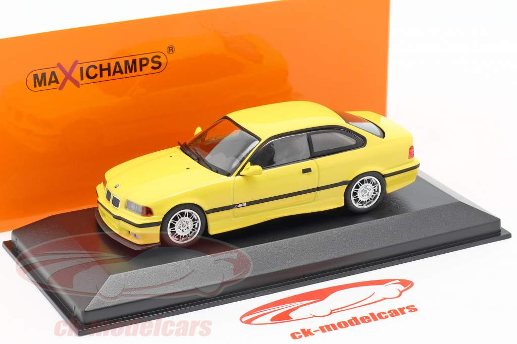 BMW M3 (E36) Coupe Baujahr 1992 gelb 1:43 Minichamps