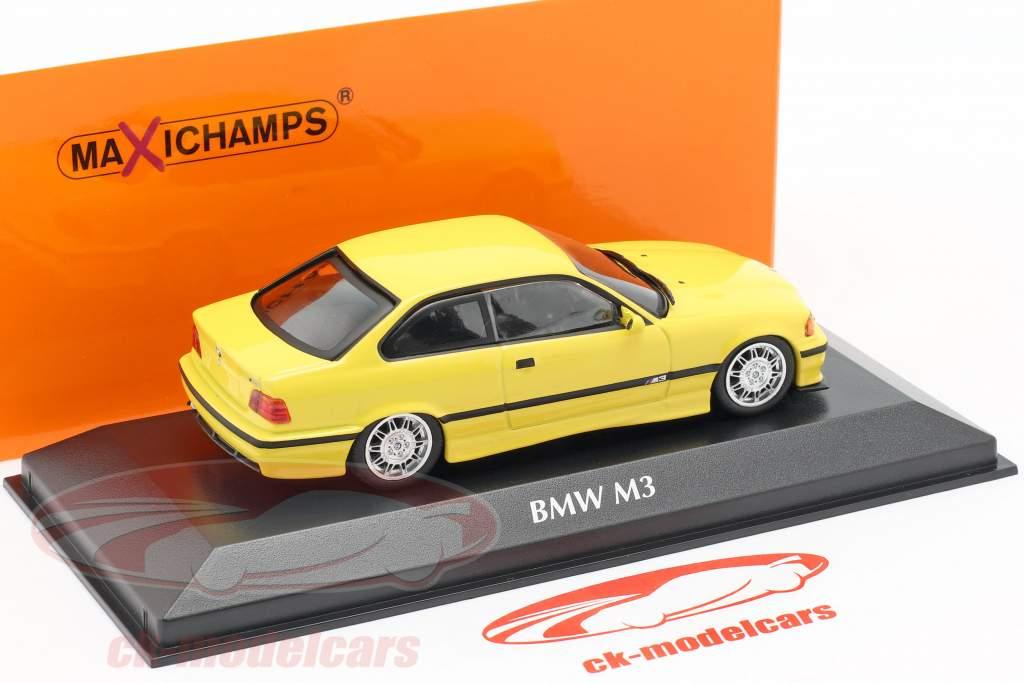 BMW M3 (E36) coupe Opførselsår 1992 gul 1:43 Minichamps