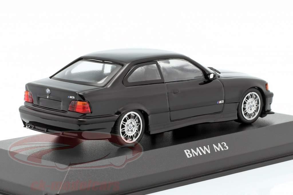 BMW M3 (E36) coupe anno di costruzione 1992 nero 1:43 Minichamps