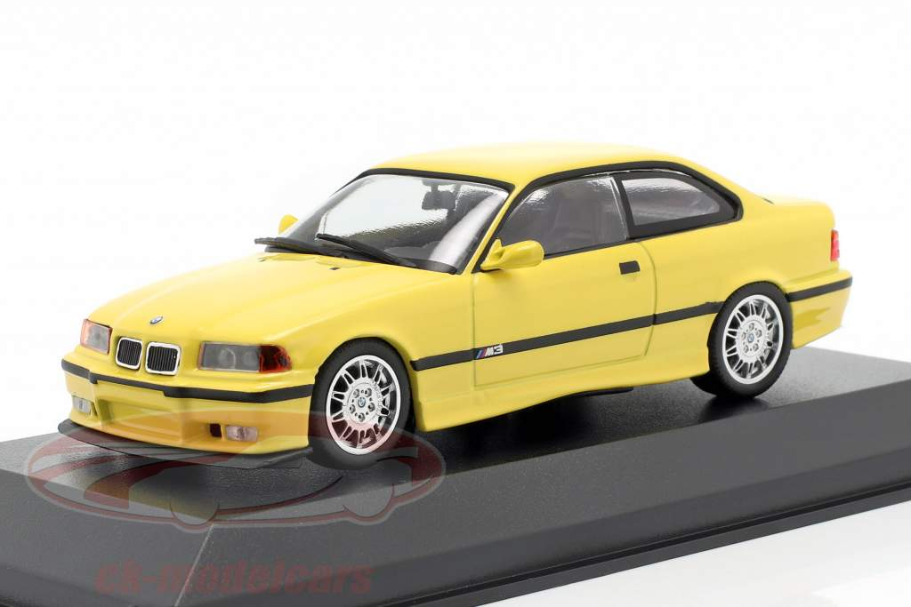 BMW M3 (E36) coupe anno di costruzione 1992 giallo 1:43 Minichamps