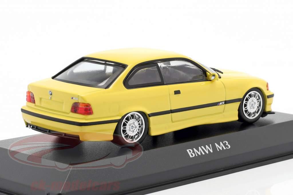 BMW M3 (E36) coupe year 1992 yellow 1:43 Minichamps