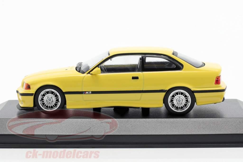 BMW M3 (E36) coupe Bouwjaar 1992 geel 1:43 Minichamps