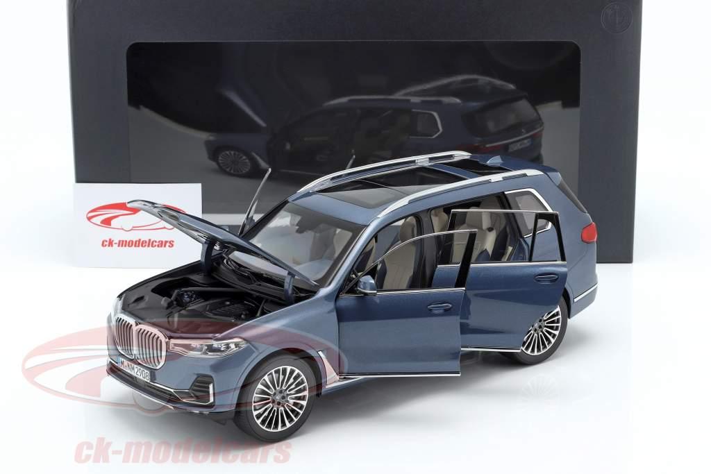 BMW X7 (G07) Bouwjaar 2019 blauw metalen 1:18 Norev
