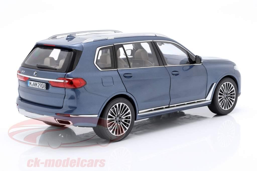 BMW X7 (G07) Opførselsår 2019 blå metallisk 1:18 Norev