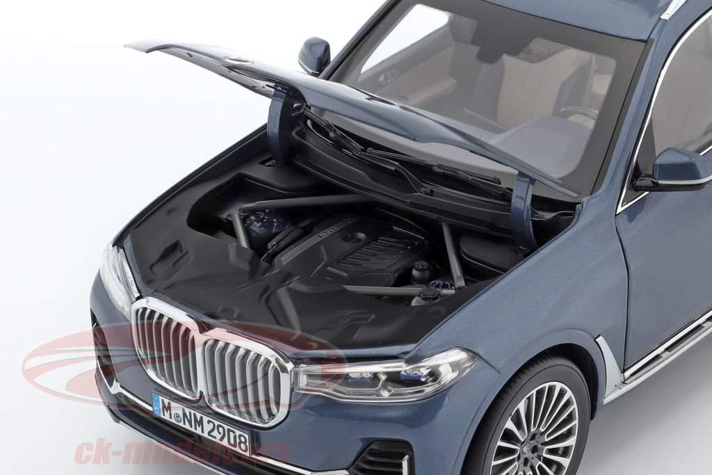 BMW X7 (G07) anno di costruzione 2019 blu metallico 1:18 Norev