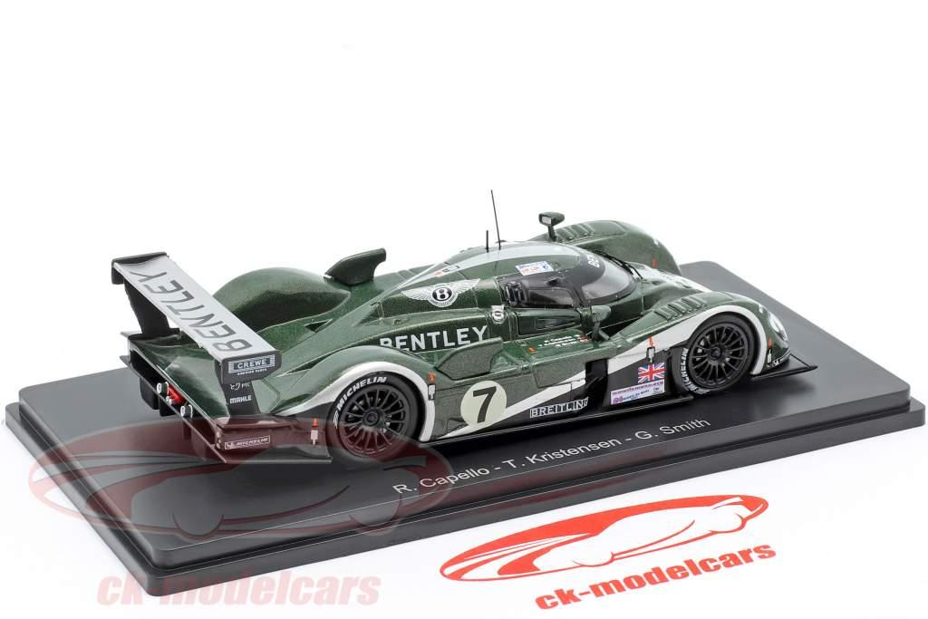Bentley Speed 8 #7 winnaar 24h LeMans 2003 Kristensen, Capello, Smith 1:43 Spark