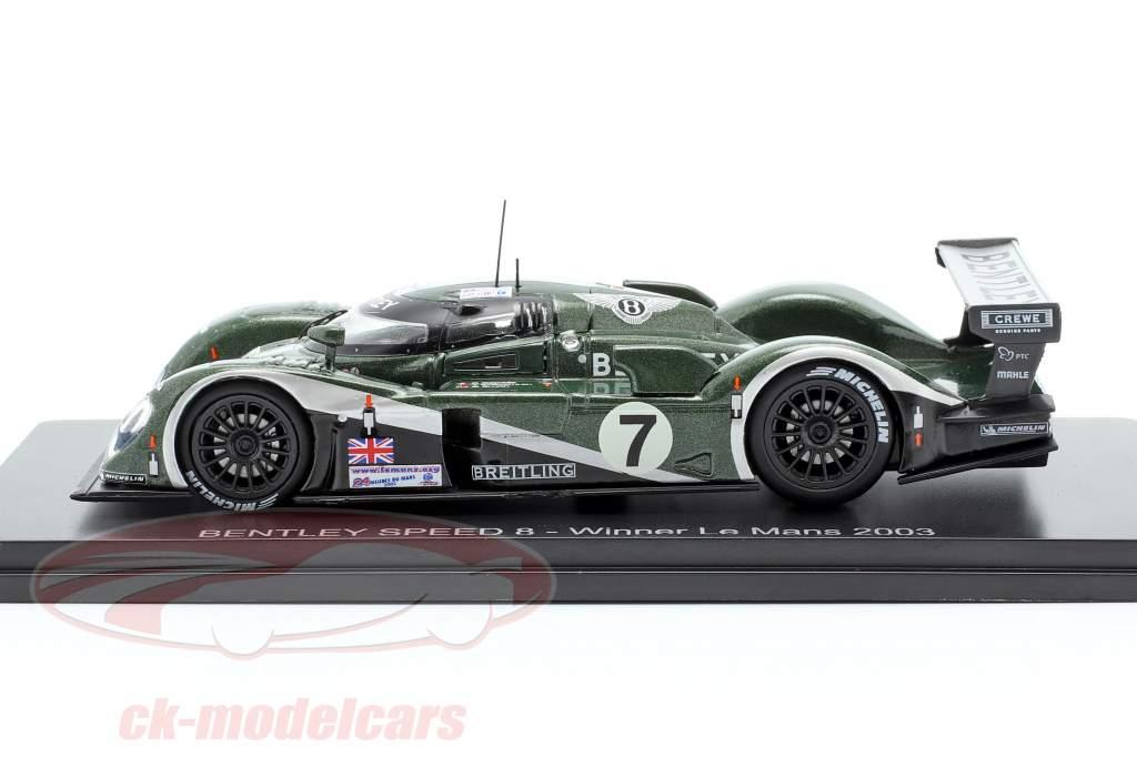 Bentley Speed 8 #7 vincitore 24h LeMans 2003 Kristensen, Capello, Smith 1:43 Spark