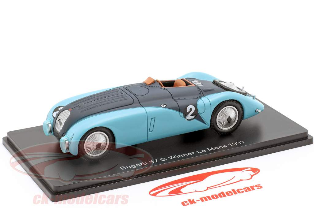 Bugatti 57G #2 Winner 24h LeMans 1937 Wimille, Benoist 1:43 Spark