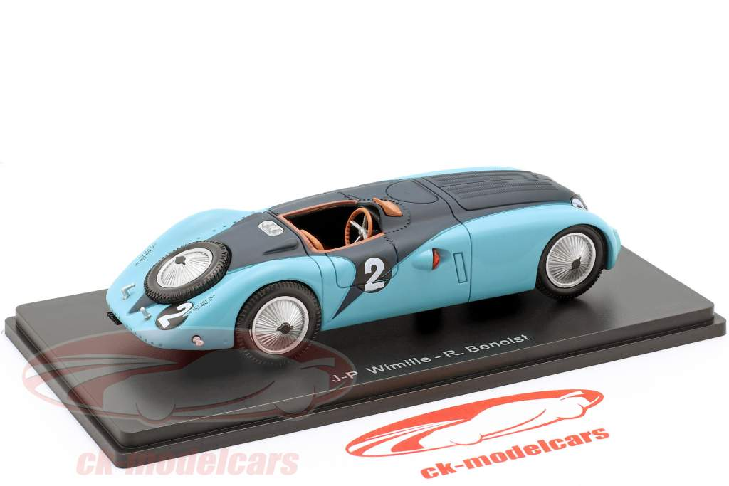 Bugatti 57G #2 gagnant 24h LeMans 1937 Wimille, Benoist 1:43 Spark