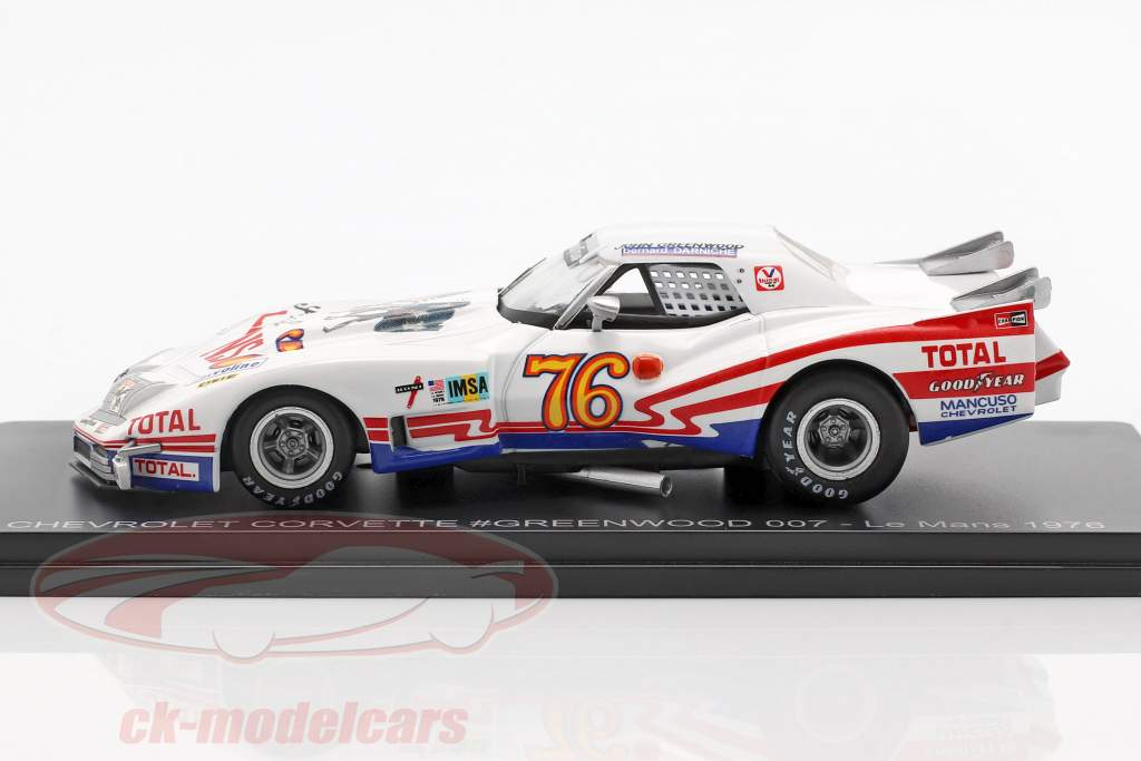 Chevrolet Corvette #76 24h LeMans 1976 Greenwood, Darniche 1:43 Spark