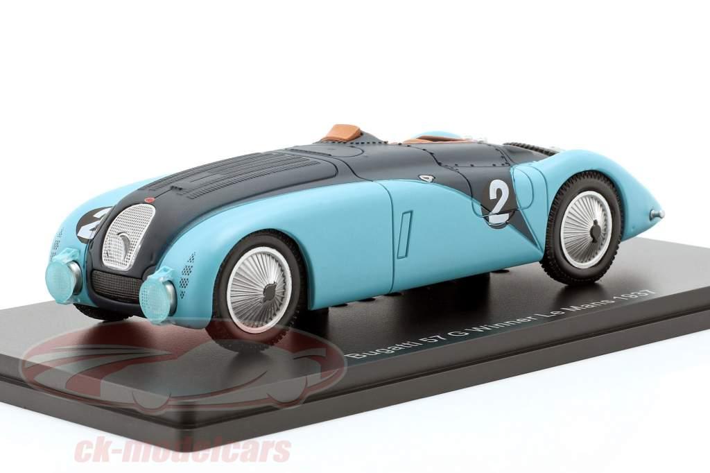 Bugatti 57G #2 vencedor 24h LeMans 1937 Wimille, Benoist 1:43 Spark