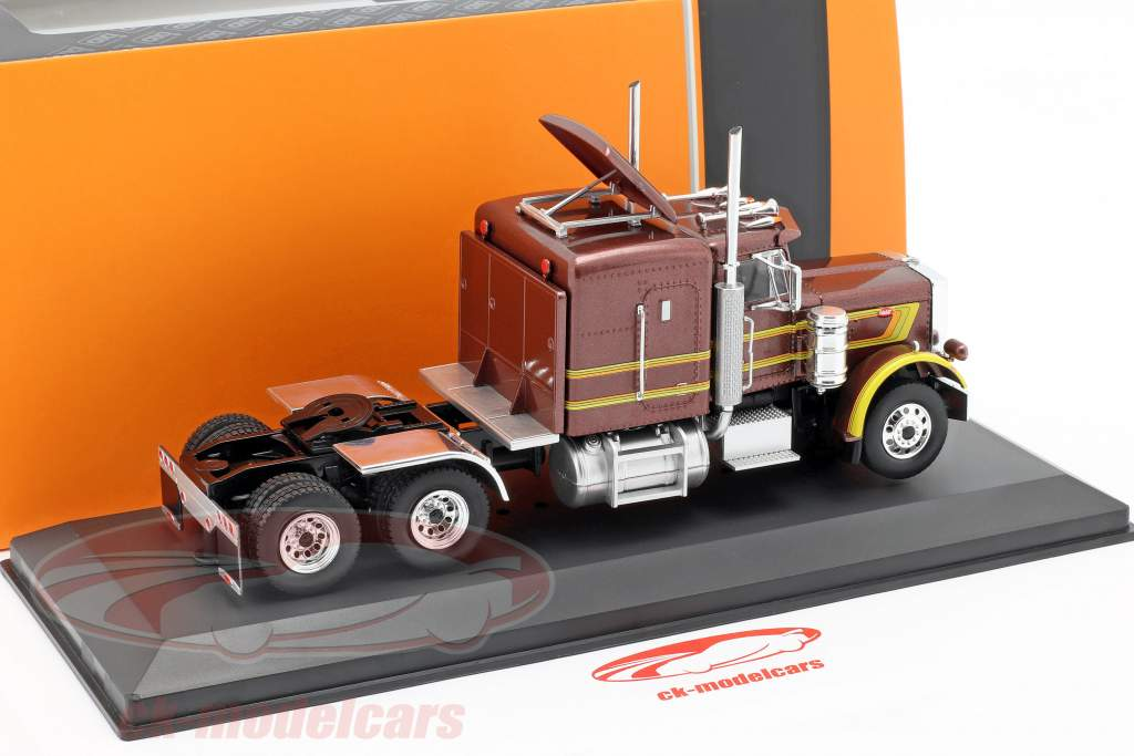 Peterbilt 359 caminhão ano de construção 1973 marrom metálico / amarelo 1:43 Ixo