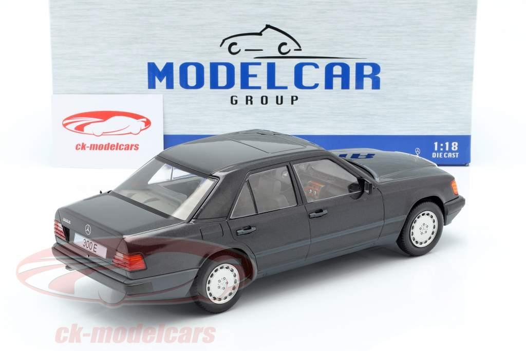 Mercedes-Benz 300 E (W124) year 1984 black metallic 1:18 Model Car Group