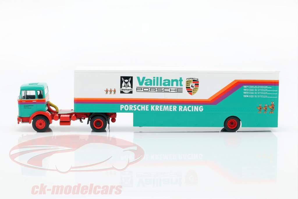 Mercedes-Benz LPS 1632 Race Car Transporter Porsche Kremer Racing 1:43 Ixo