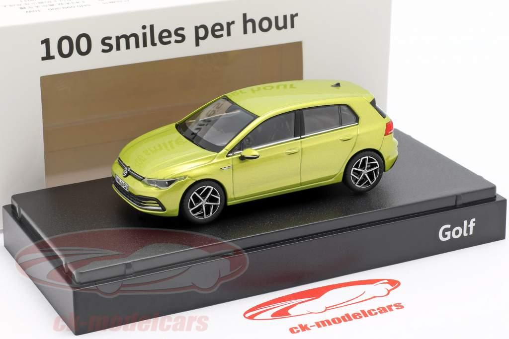 Volkswagen VW Golf VIII Baujahr 2020 limonengelb 1:43 Norev