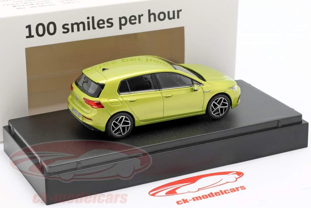 Volkswagen VW Golf VIII Bouwjaar 2020 citroen geel 1:43 Norev