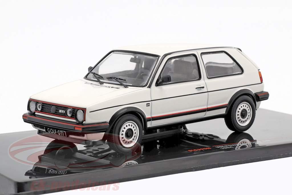 Volkswagen VW Golf II GTi ano de construção 1984 branco 1:43 Ixo