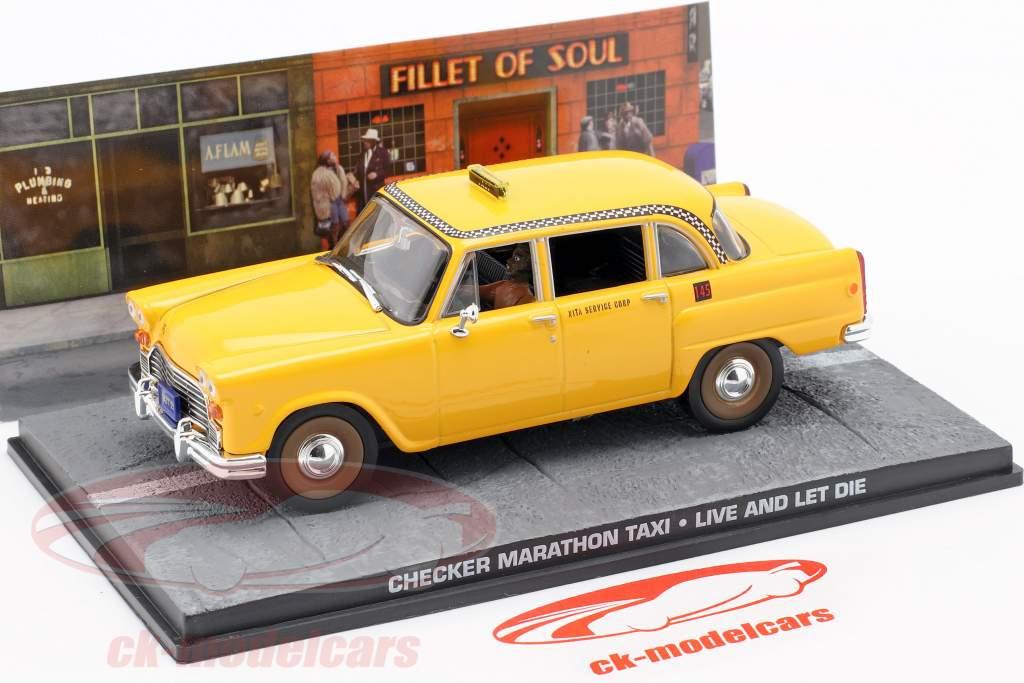 Checker Marathon Taxi James Bond Film Car leven en dood achterlaten 1:43 Ixo