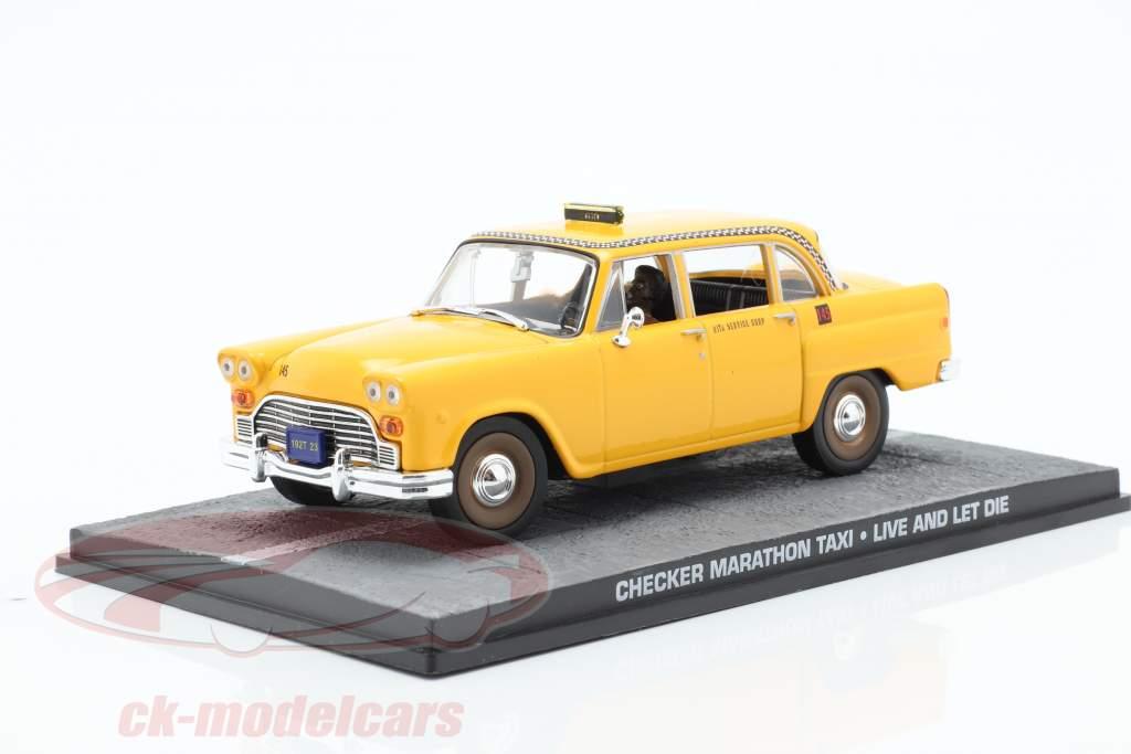 Checker Marathon Taxi James Bond Movie Car Leben und Sterben lassen 1:43 Ixo