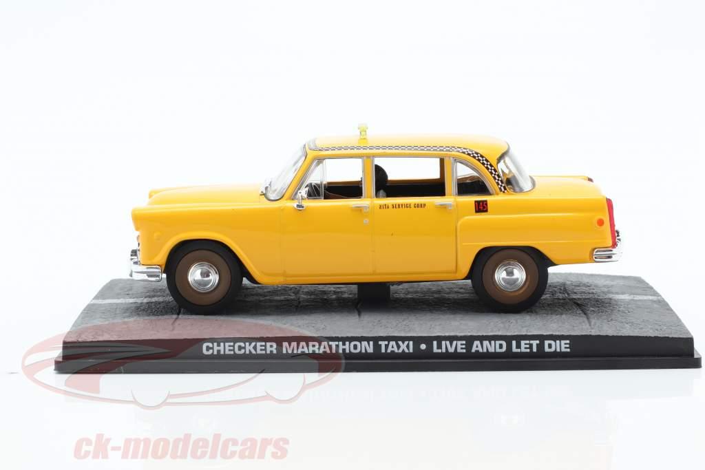 检查马拉松出租车詹姆斯·邦德电影的汽车生活和死亡离开1:43 IXO