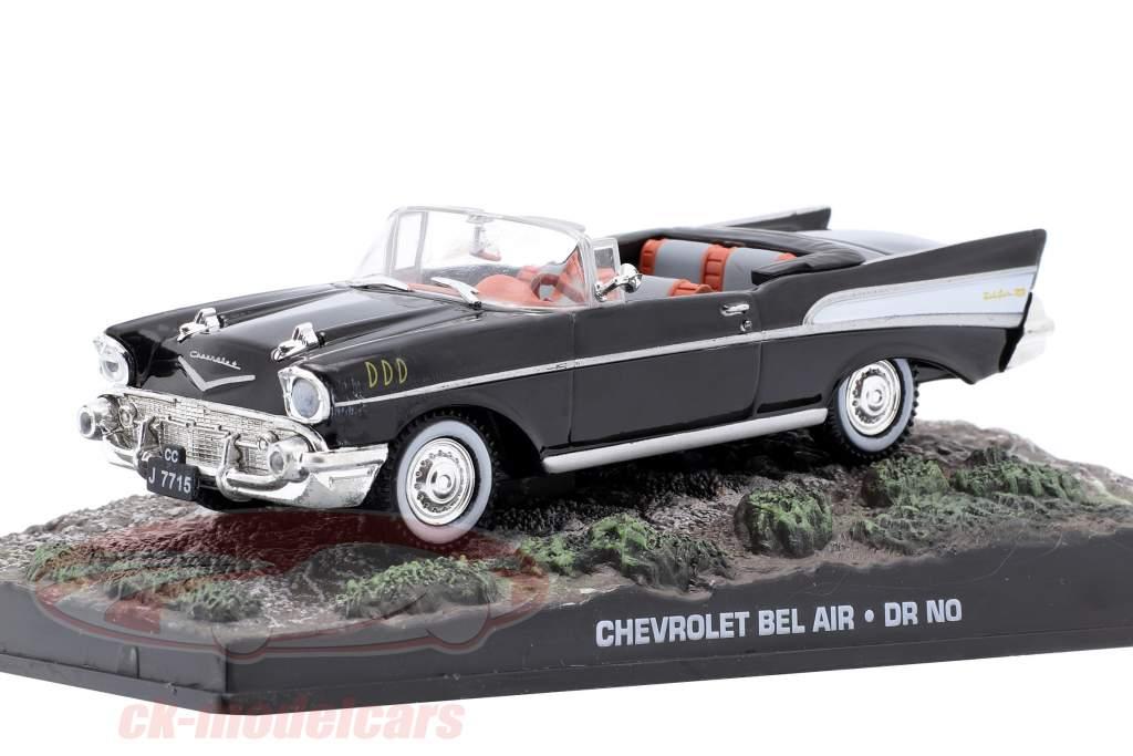 Chevrolet Bel Air Car James Bond do filme James Bond Dr. No 1:43 preto Ixo